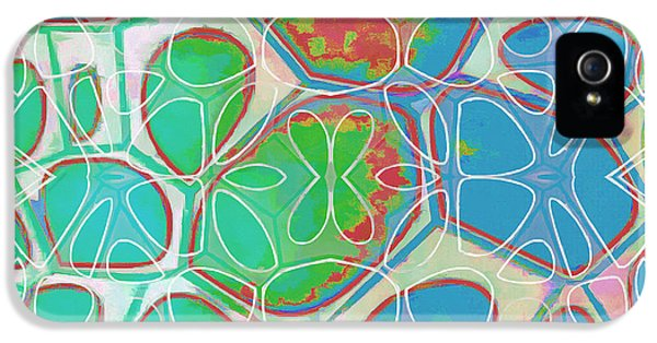 Green iPhone 5 Case - Cell Abstract 10 by Edward Fielding