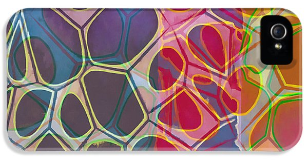 Green iPhone 5 Case - Cell Abstract 11 by Edward Fielding