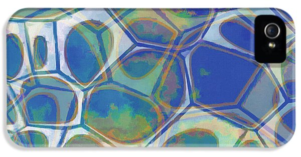 Blue iPhone 5 Case - Cell Abstract 13 by Edward Fielding