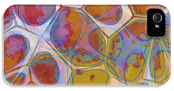 Blue iPhone 5 Case - Cell Abstract 14 by Edward Fielding