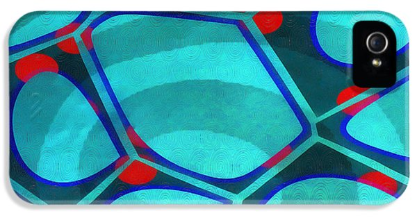 Green iPhone 5 Case - Cell Abstract 6a by Edward Fielding