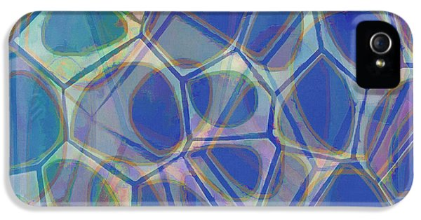 Blue iPhone 5 Case - Cell Abstract One by Edward Fielding