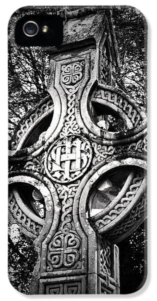 Celtic Cross Detail Killarney Ireland IPhone 5 Case by Teresa Mucha
