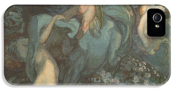 Centaur Nymphs And Cupid IPhone 5 Case by Franz von Bayros