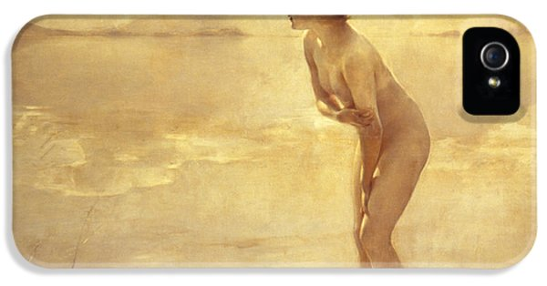 Nudes iPhone 5 Case - Chabas, September Morn by Paul Chabas