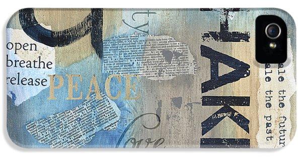 Breathe iPhone 5 Case - Chakra by Debbie DeWitt