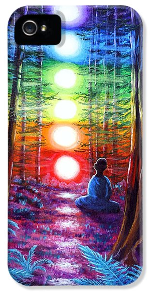 Chakra Meditation In The Redwoods IPhone 5 / 5s Case by Laura Iverson