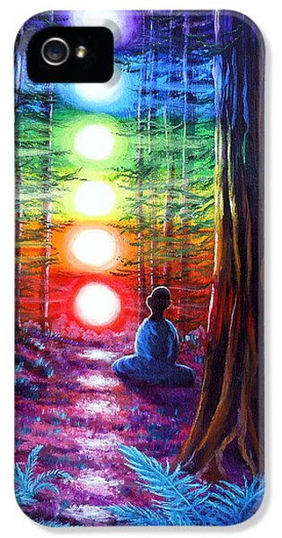 Chakra Meditation In The Redwoods IPhone 5 Case