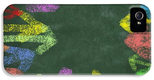 Chalk Drawing Colorful Arrows IPhone 5 Case by Setsiri Silapasuwanchai