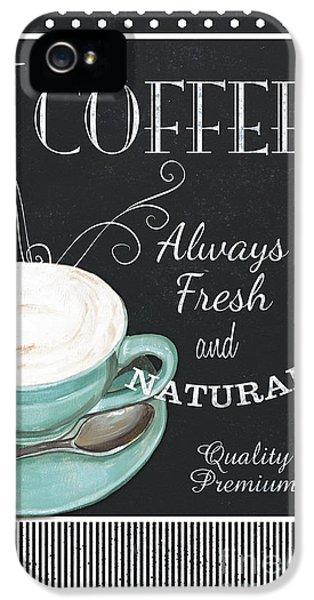 Chalkboard Retro Coffee Shop 1 IPhone 5 Case