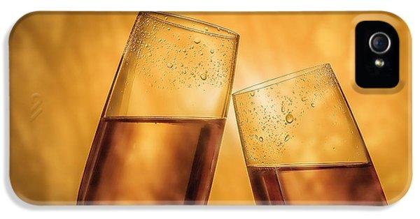 Champagne Toast IPhone 5 Case by Tom Mc Nemar