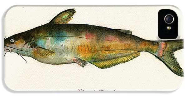 Channel Catfish Fish Animal Watercolor Painting IPhone 5 Case by Juan  Bosco