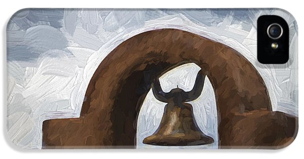 Chapel Bell Chimayo Painterly Effect IPhone 5 Case by Carol Leigh