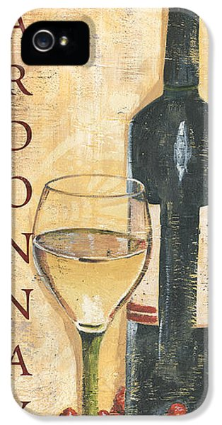 Chardonnay Wine And Grapes IPhone 5 Case by Debbie DeWitt