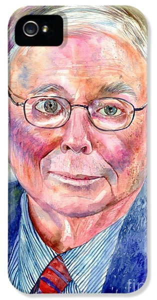 Nebraska iPhone 5 Case - Charlie Munger Painting by Suzann Sines