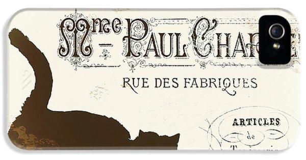Paris iPhone 5 Case - Chat Noir Paris by Mindy Sommers