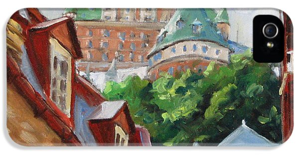 Chateau Frontenac IPhone 5 Case by Richard T Pranke
