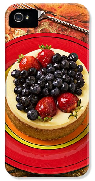Cheesecake On Red Plate IPhone 5 Case