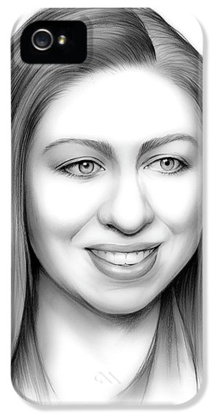 Chelsea Clinton IPhone 5 Case by Greg Joens
