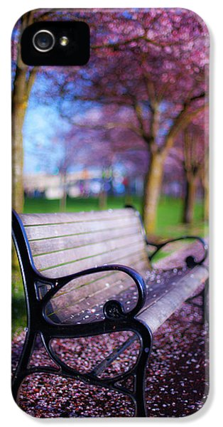 Breathe iPhone 5 Case - Cherry Blossom Bench by Darren White