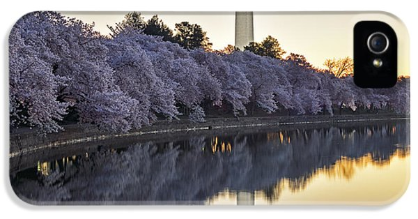 Washington Monument iPhone 5 Case - Cherry Blossom Festival - Washington Dc by Brendan Reals