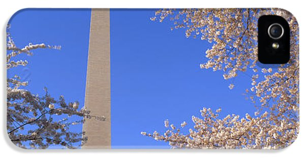 Cherry Blossoms And Washington IPhone 5 Case by Panoramic Images