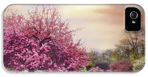 IPhone 5 Case featuring the photograph Cherry Orchard Hill by Jessica Jenney