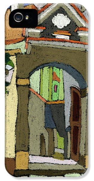 Chesky Krumlov Old Street Latran  IPhone 5 Case by Yuriy  Shevchuk