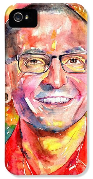 Rolling Stone Magazine iPhone 5 Case - Chester Bennington Watercolor by Suzann's Art
