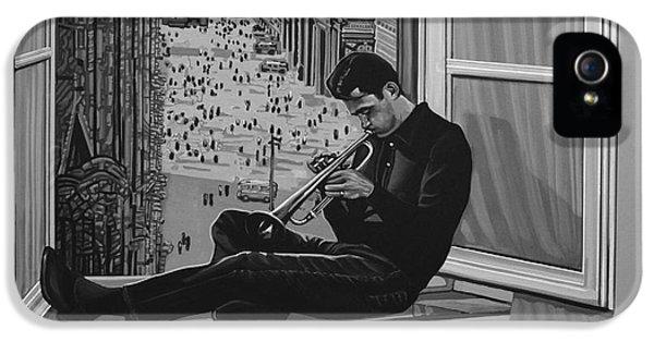 Music iPhone 5 Case - Chet Baker by Paul Meijering