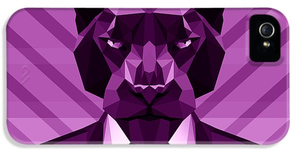 Chevron Panther IPhone 5 Case by Gallini Design