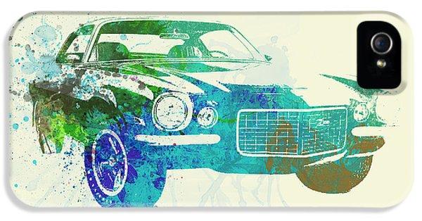 Chevy Camaro Watercolor IPhone 5 Case by Naxart Studio
