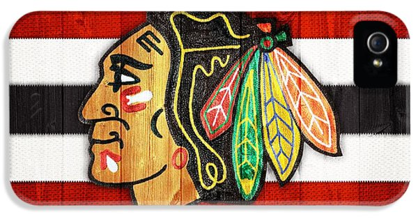 Chicago Blackhawks Barn Door IPhone 5 Case by Dan Sproul
