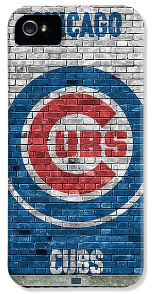Chicago Cubs Brick Wall IPhone 5 Case by Joe Hamilton