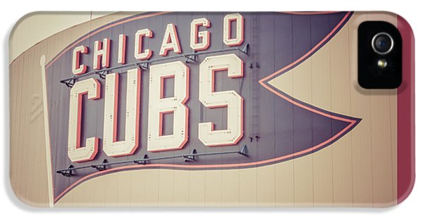 Chicago Cubs Sign Vintage Picture IPhone 5 / 5s Case by Paul Velgos