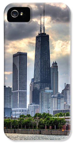 Hancock Building iPhone 5 Case - Chicago From The Pier by Joshua Ball