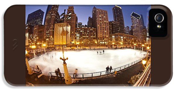 Chicago Ice Rink And Skyline At Dusk IPhone 5 Case