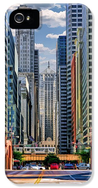 IPhone 5 Case featuring the painting Chicago Lasalle Street by Christopher Arndt