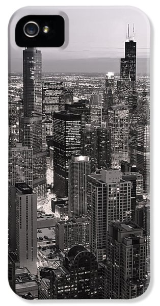 Chicago Loop Sundown B And W IPhone 5 Case