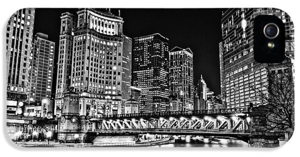 Chicago River Skyline At Night Picture IPhone 5 Case