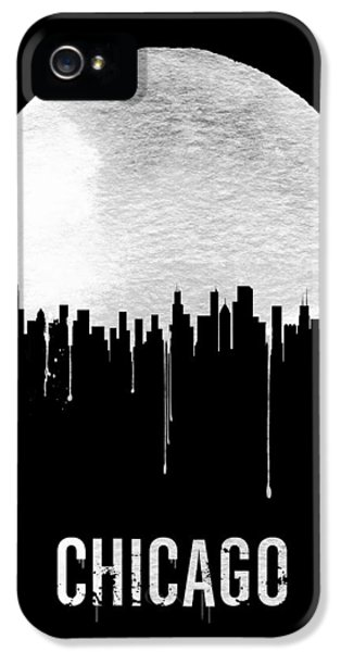 Chicago Skyline Black IPhone 5 Case by Naxart Studio