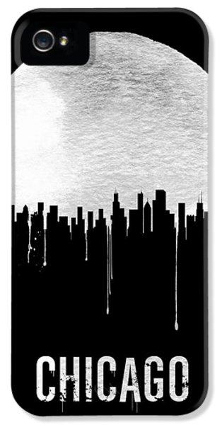 Chicago Skyline Black IPhone 5 / 5s Case by Naxart Studio