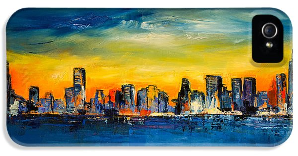 Chicago Skyline IPhone 5 Case by Elise Palmigiani