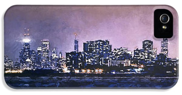 Chicago Skyline From Evanston IPhone 5 Case by Scott Norris