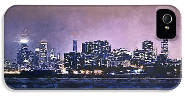 Hancock Building iPhone 5 Case - Chicago Skyline From Evanston by Scott Norris