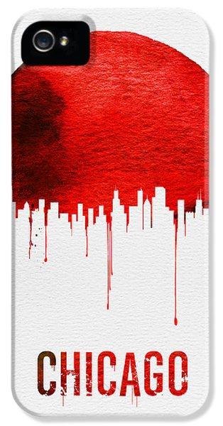 University Of Illinois iPhone 5 Case - Chicago Skyline Red by Naxart Studio