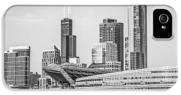 Chicago Skyline With Soldier Field And Willis Tower  IPhone 5 Case by Paul Velgos