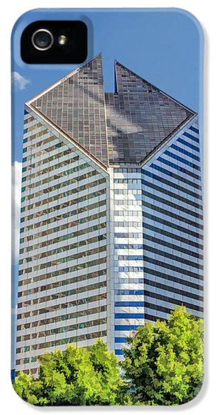 IPhone 5 Case featuring the painting Chicago Smurfit-stone Building by Christopher Arndt