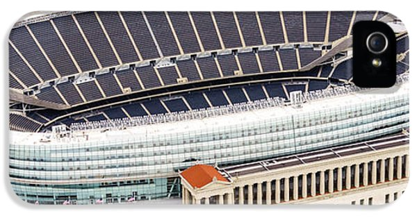 Chicago Soldier Field Aerial Photo IPhone 5 Case by Paul Velgos
