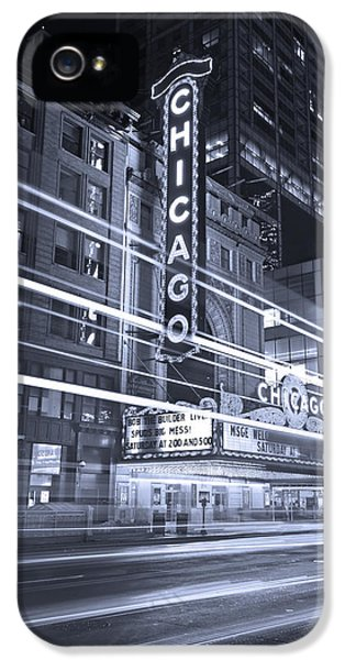 Chicago Theater Marquee B And W IPhone 5 Case by Steve Gadomski